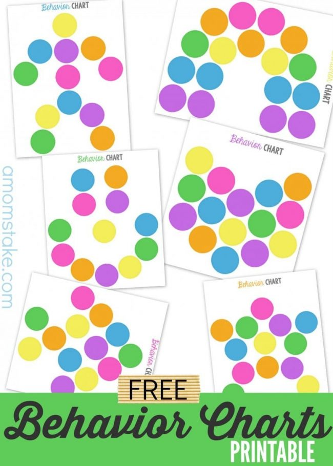 Free Printable Behavior Charts - A Momu0027s Take - printable behavior chart