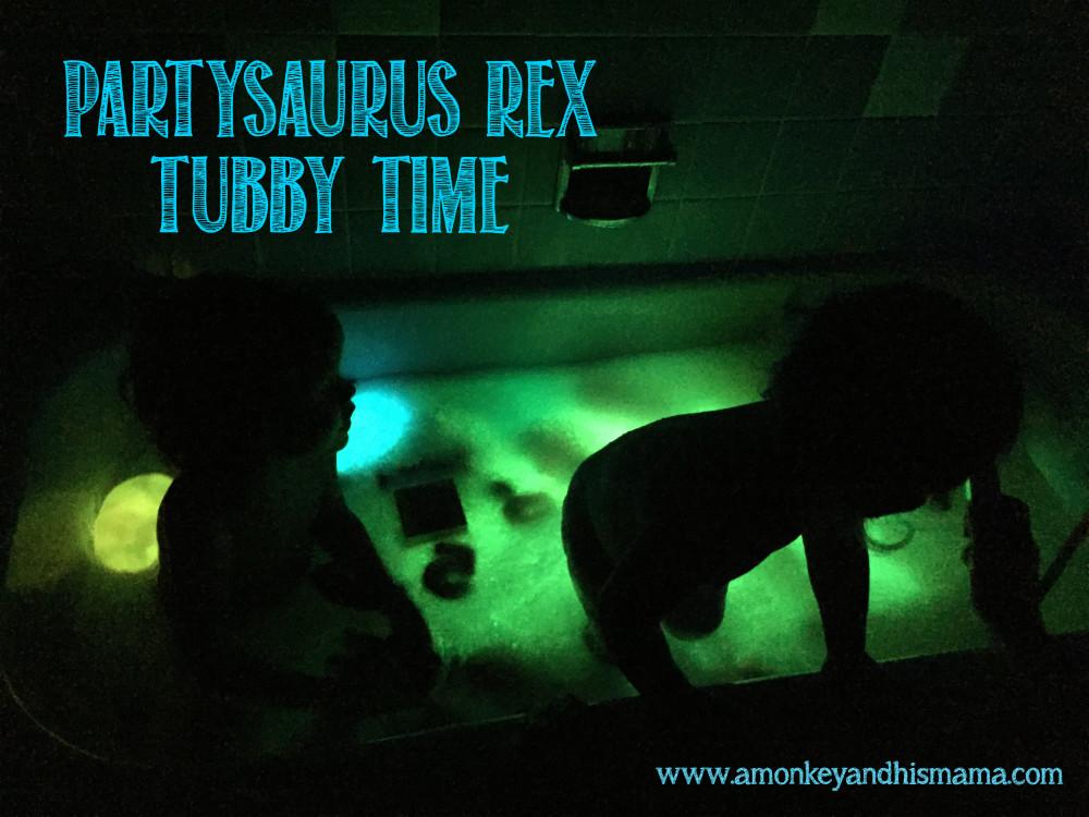 partysaurus rex tubby time // www.amonkeyandhismama.com