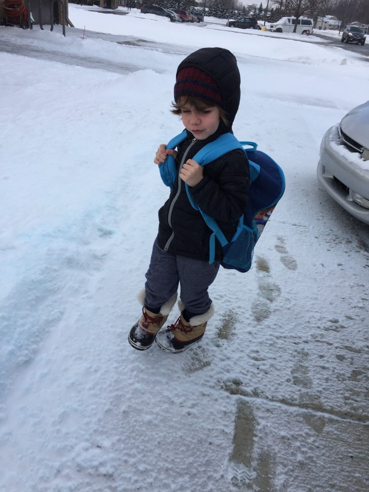 toddler on the go essentials for a michigan winter // a monkey and his mama