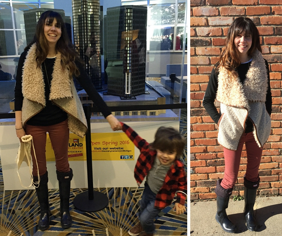 mama style: winter layers // anita vest // a monkey and his mama