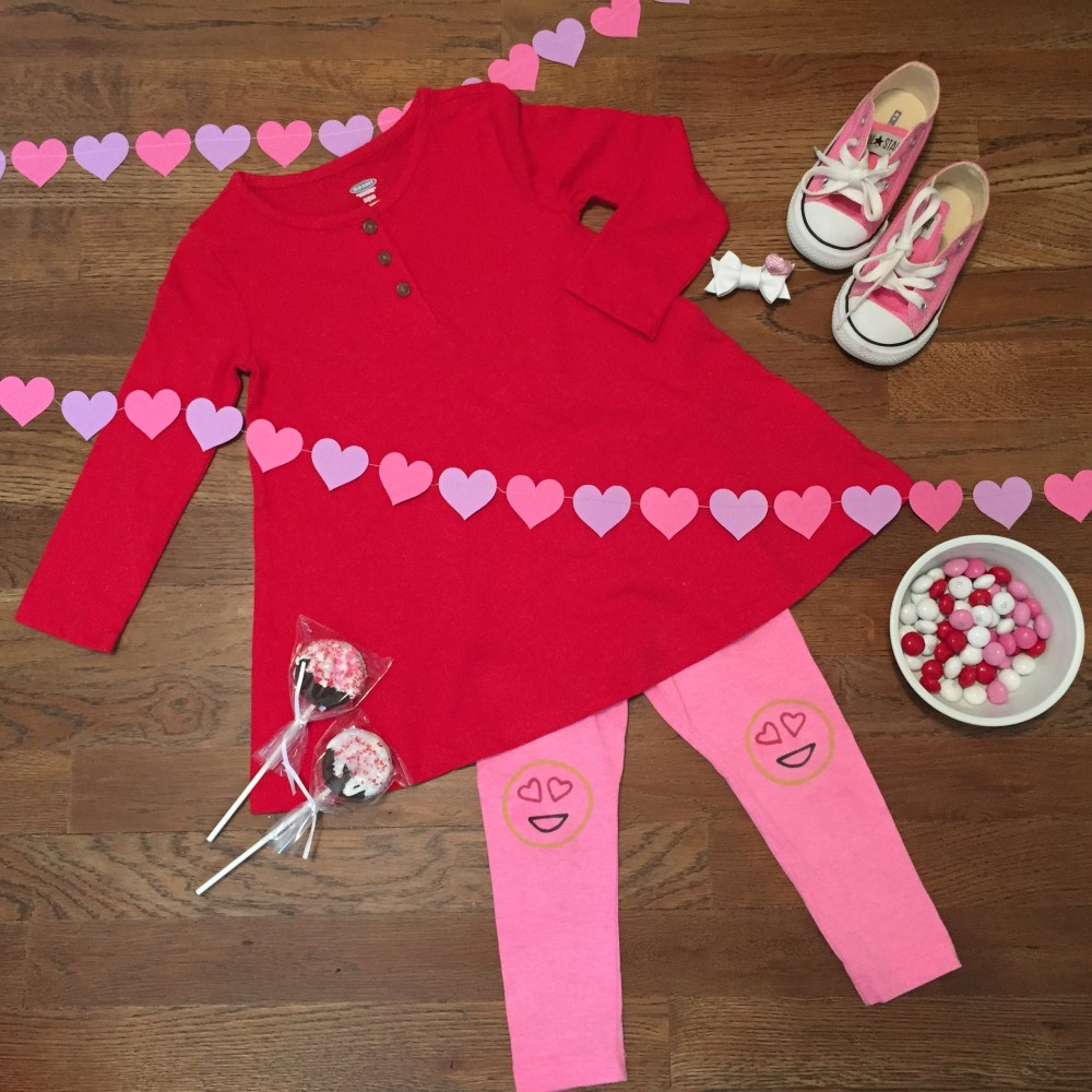 toddler girl valentine's day style // leggings-kicking' legs bow-mina loves bows. garland-the frick and frack // a monkey and his mama