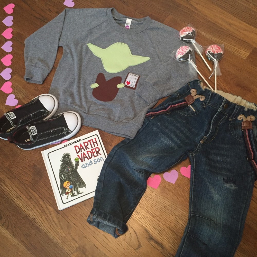Toddler Boy Valentine's Day Style // yoda one for me top by swanky shank // a monkey and his mama