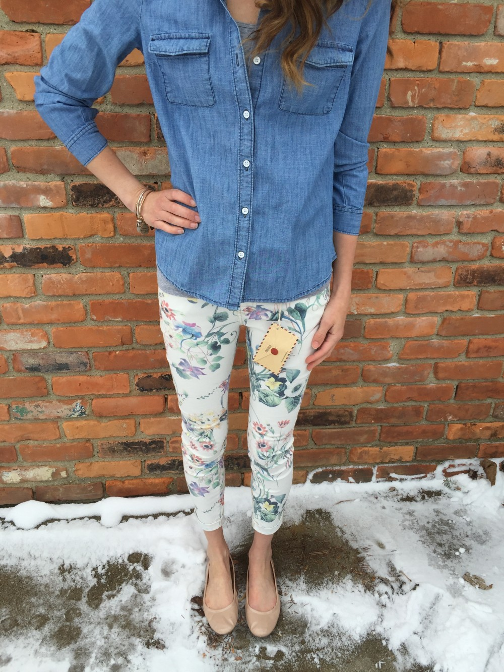 Avriil Floral Printed Skinny Jeans by Dear John March Stitch Fix 2016 // a monkey and his mama