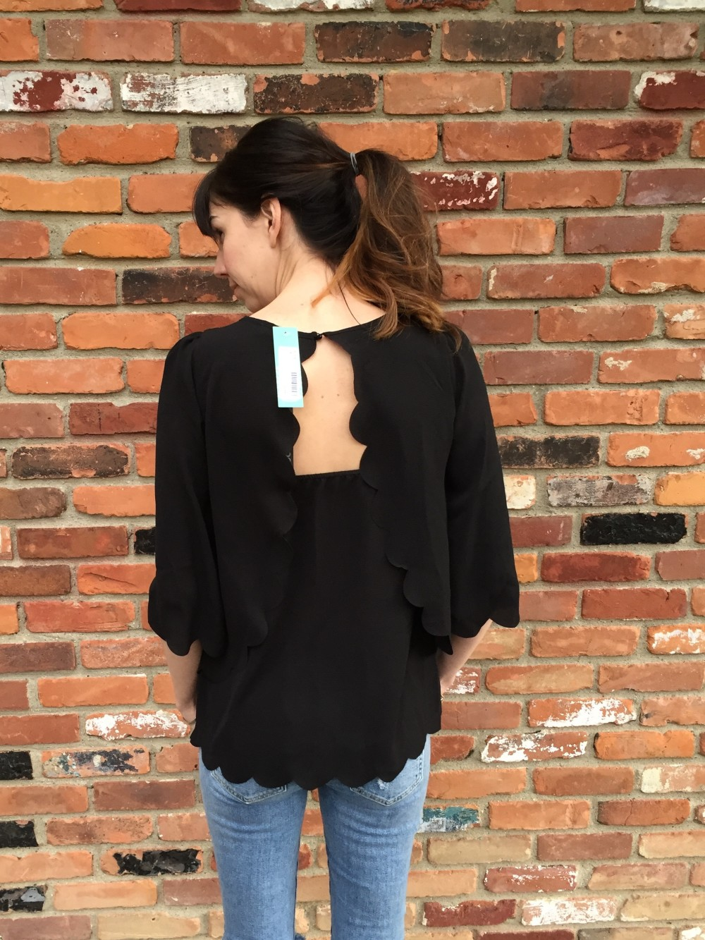 violetta 3/4 sleeve blouse, paper moon from my April 2016 Stitch Fix // a monkey and his mama