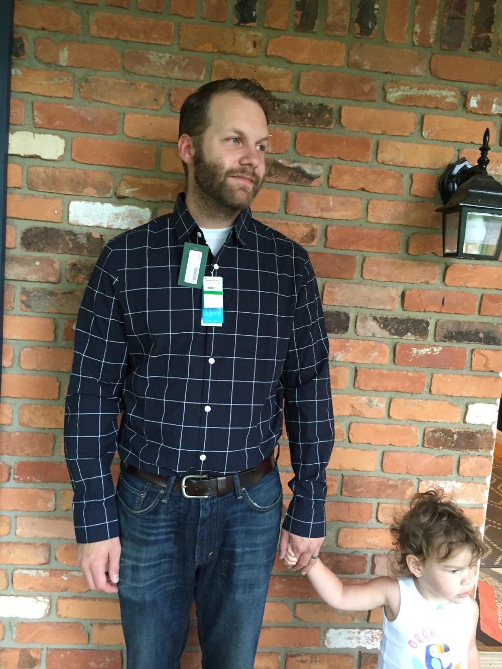 Ceritos Slim Fit Windowpane Shirt by Penguin. Stitch Fix Men // a monkey and his mama