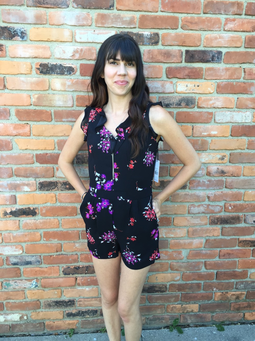 Tonette V-Neck Romper by Dex from my Summer Stitch Fix Box June 2016 // a monkey and his mama