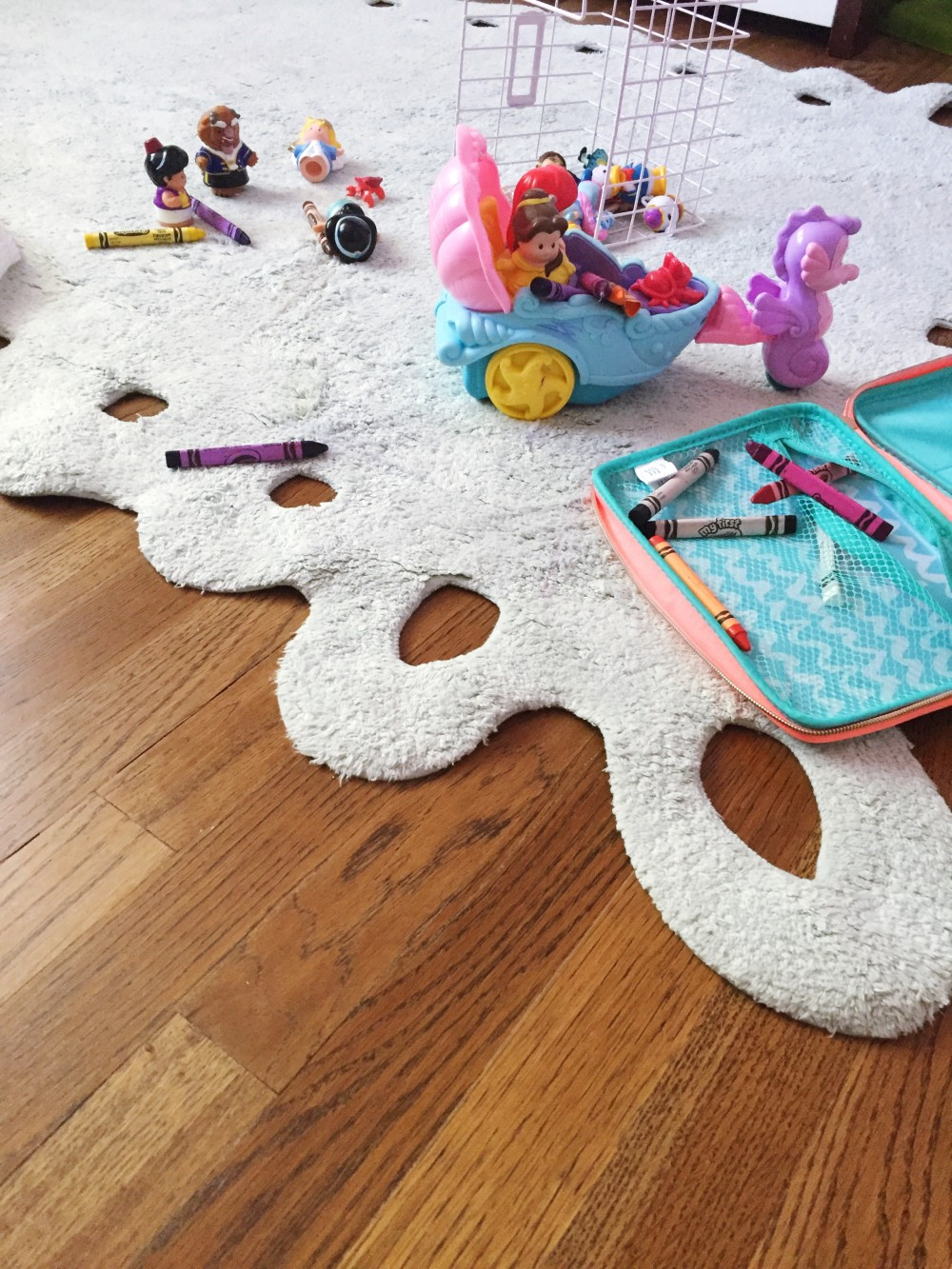 you need a washable rug in your child's room // a monkey and his mama // lorena canals rugs