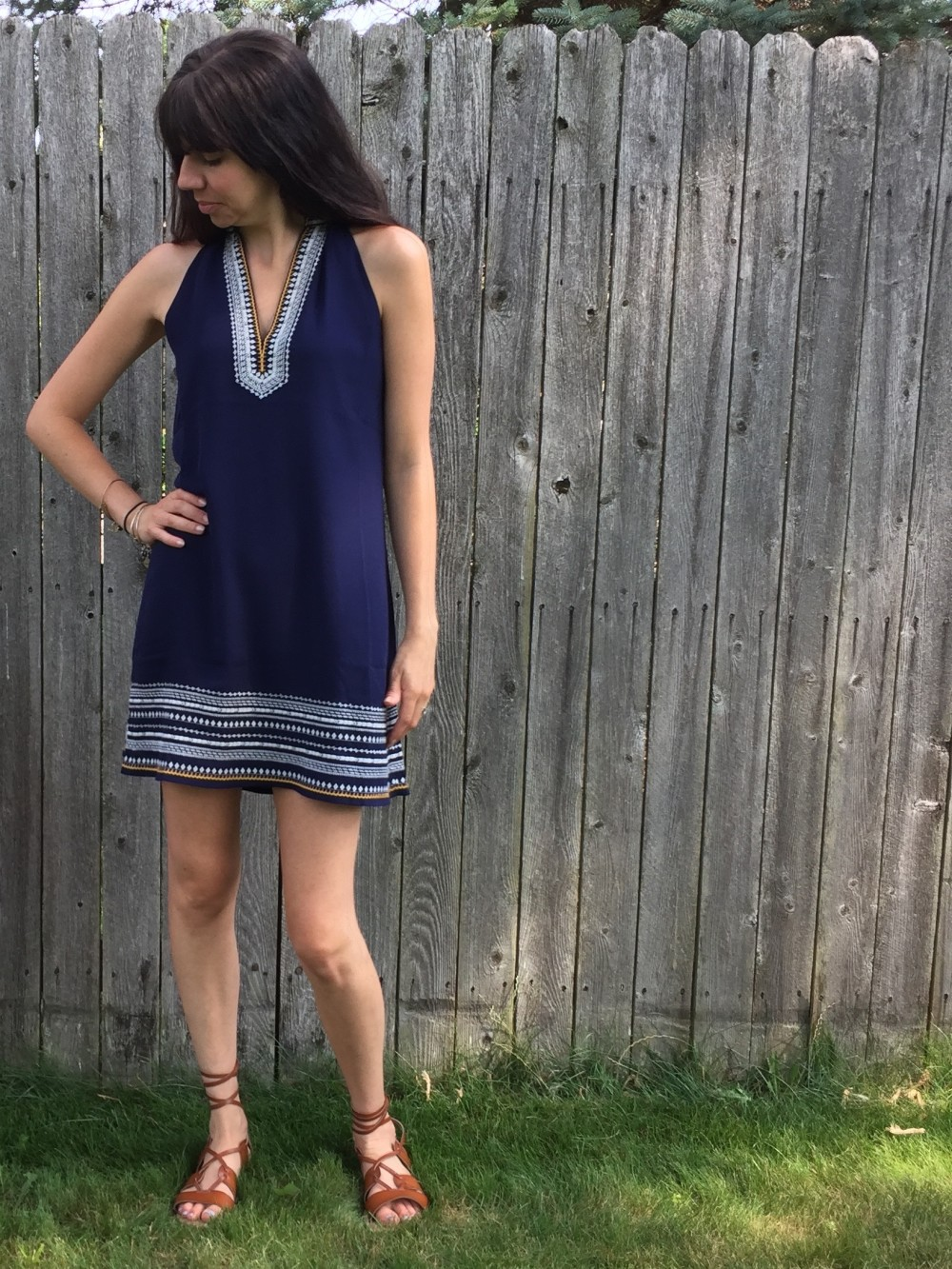 Chana Embroidered Dress, THML from my July 2016 Stitch Fix // a monkey and his mama