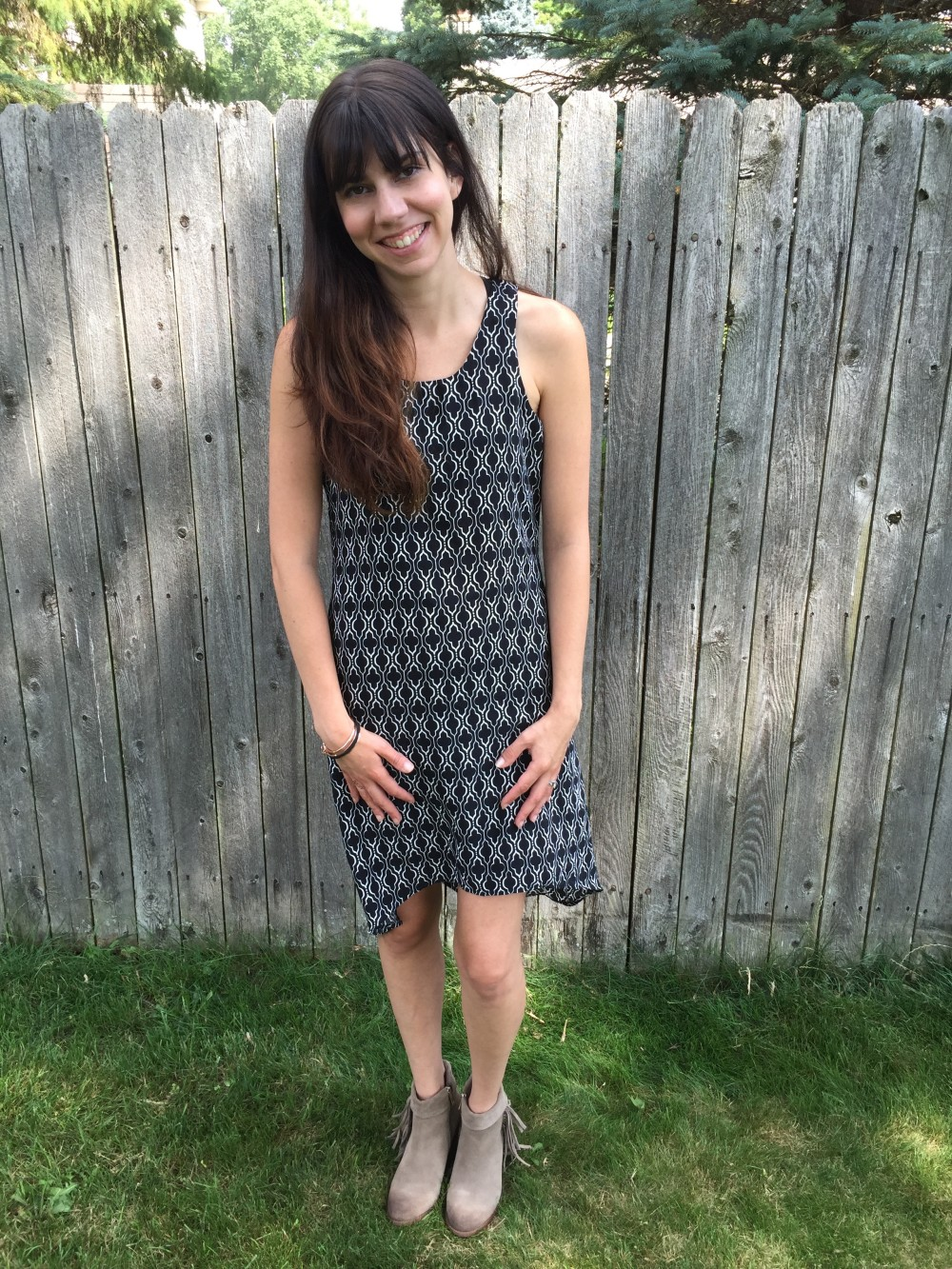 abbee hi-lo dress, 41Hawthorne from my July 2016 Stitch Fix // a monkey and his mama