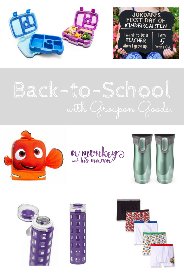 back to school with groupon goods \\ a monkey and his mama