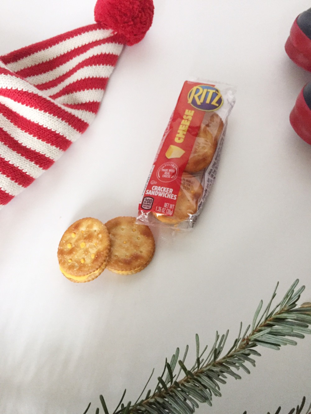 on the go snack kit with RITZ Filled Sandwich Crackers // a monkey and his mama