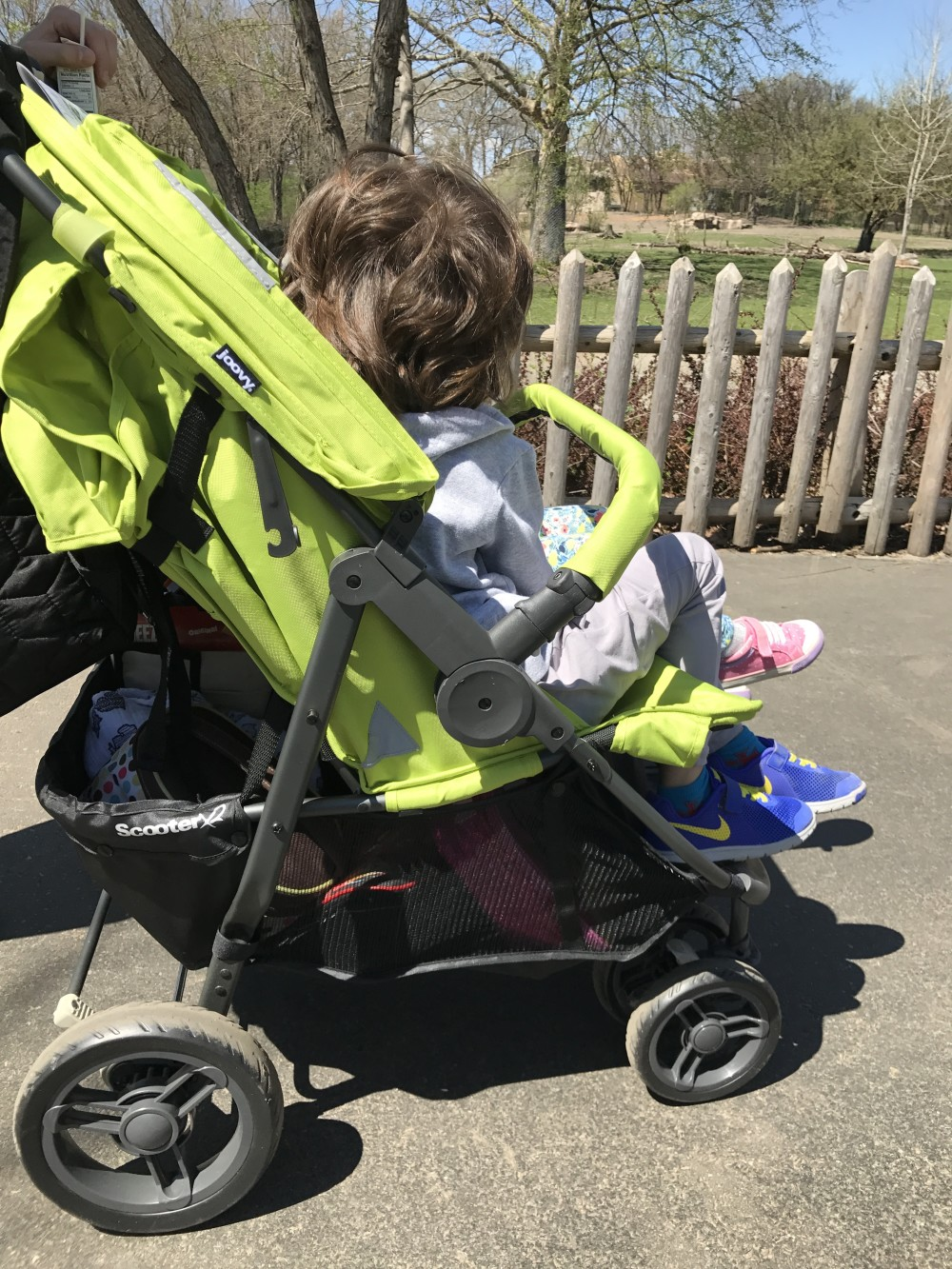 joovy double stroller scooter x2