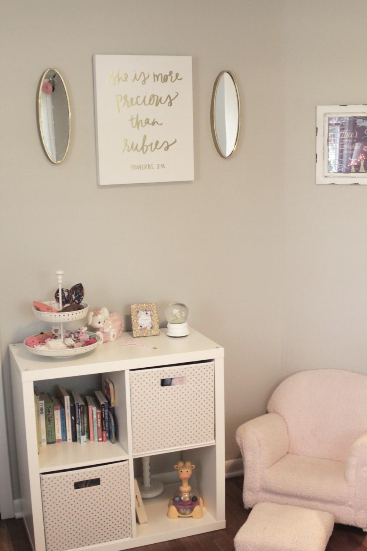 feminine baby girl nursery