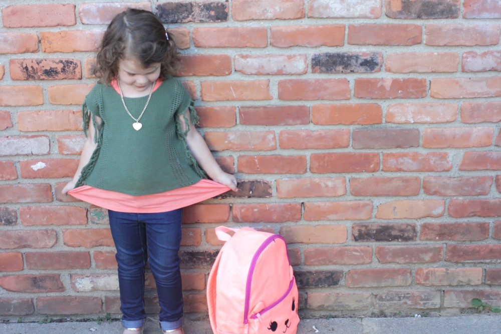 toddler girl back to school