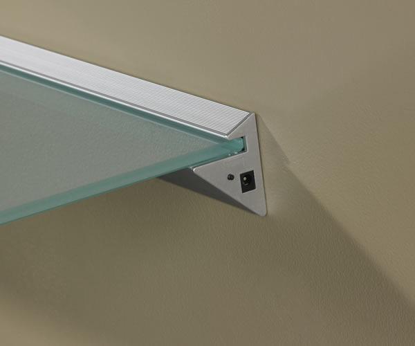 Lighted Shelf Kit With Bracket Led Lit Glass Shelving