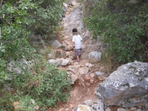 Climbing at Nachal Sephunim