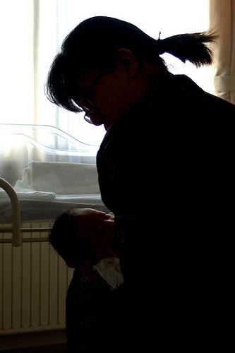 breastfeeding baby shadow