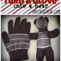 Craft Tutorial - Turn a Glove into a Plush Bear