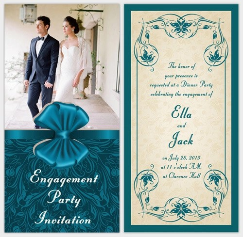 Engagement Party Ideas with Free Invitation Cards