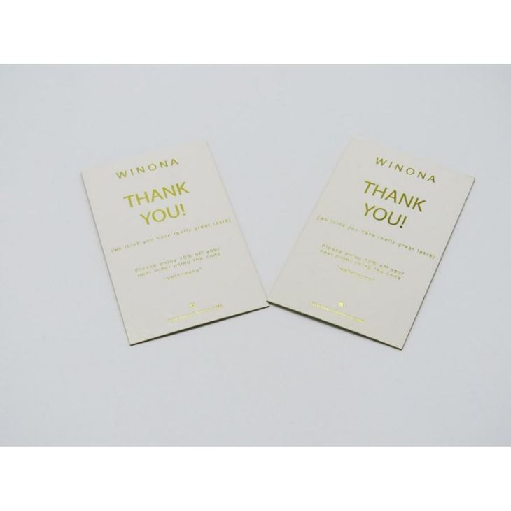 China Customized Printing Paper Gift Business Thank You Card