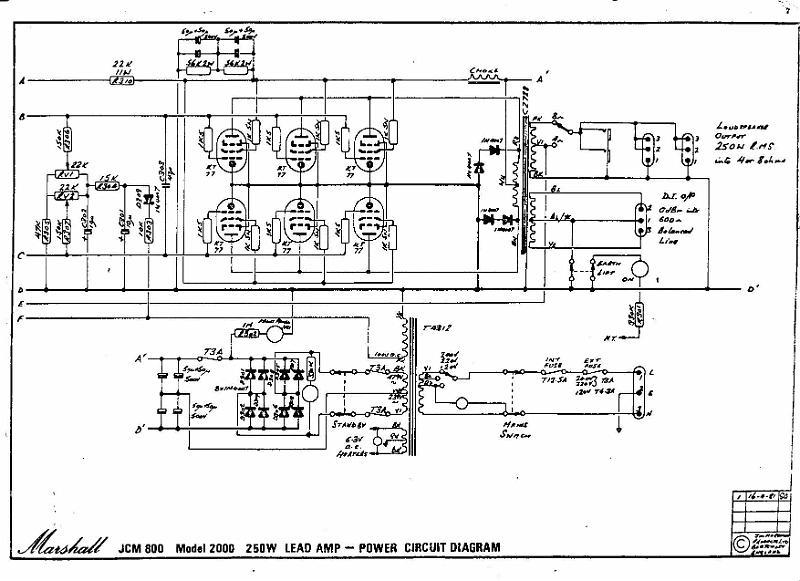 marshall jcm 800 circuit diagram