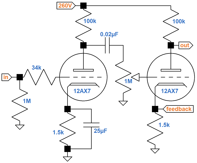 12ax7 preamp circuit