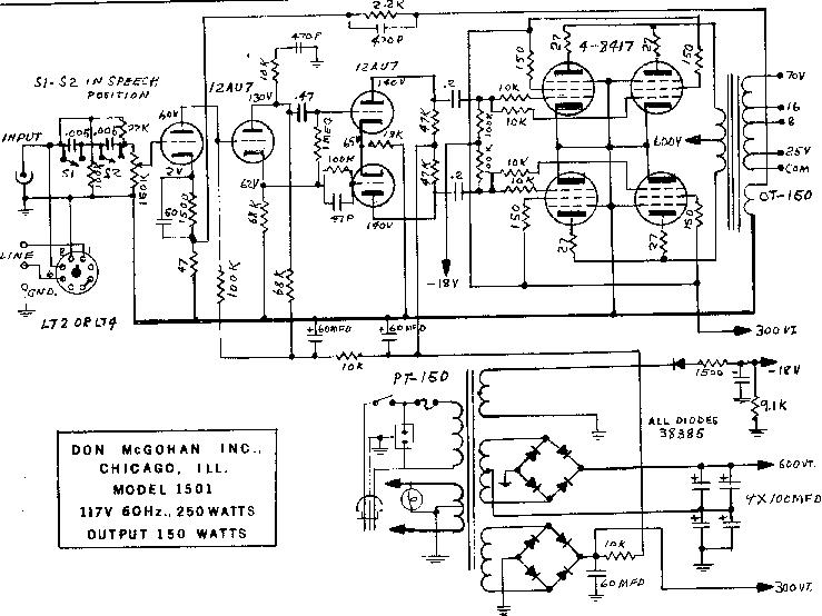 vacuum tube amplifier schematics