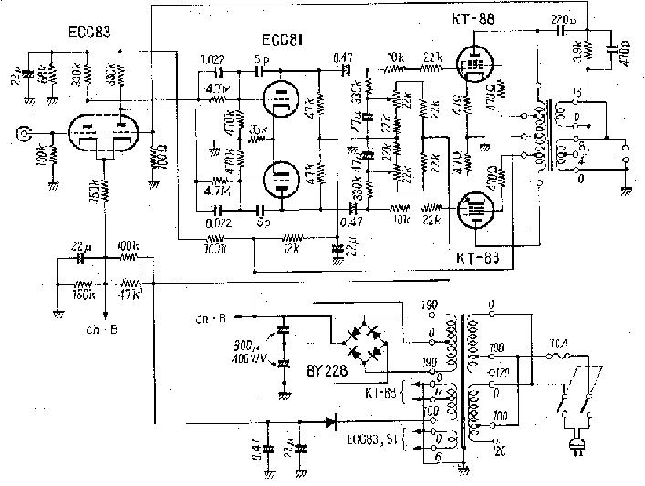 6v6 6j5 class a vacuum tube valve amplifier circuit