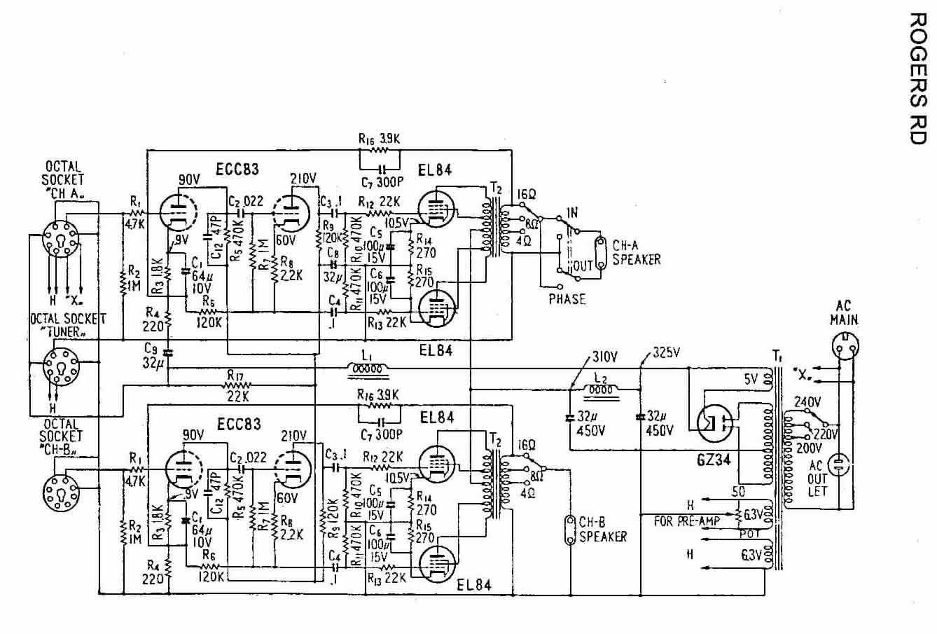 amplifier schematics for