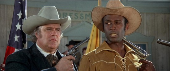 The hostage scene from Blazing Saddles