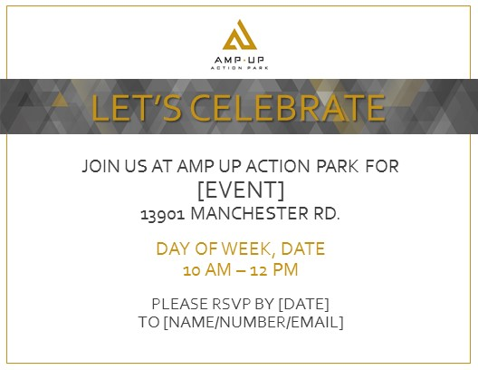 Online Invitations - Amp Up Action Park St Louis