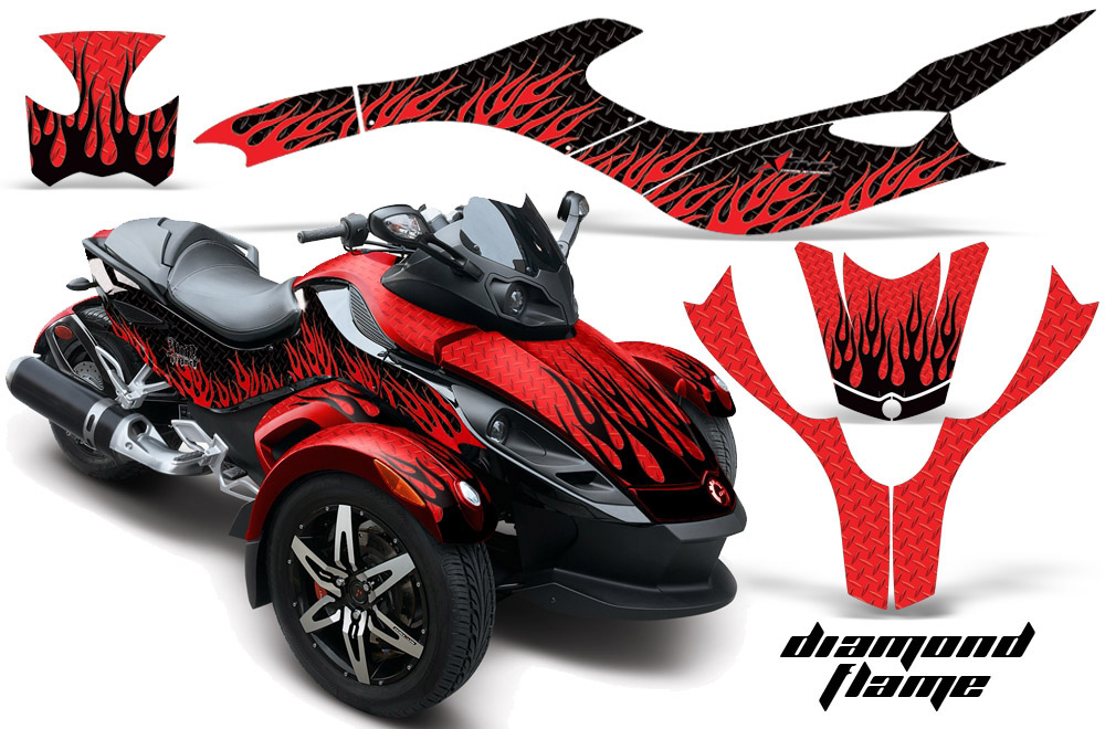 Decal graphic sticker kit for Can Am Spyder Roadster Bike