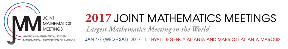 2017  Joint Mathematics Meetings  January 4 - 7 (Wednesday