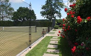AMSS tennis court construction
