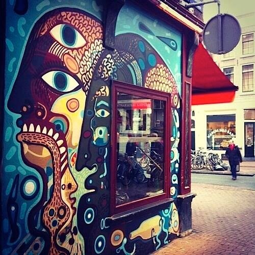 Amsterdam's coffeeshop Abraxas exterior