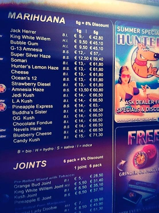 Image from http\/\/wwwamsterdamredlightdistricttour\/wp-content - coffee menu