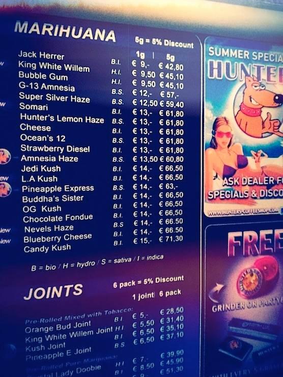Image from    wwwamsterdamredlightdistricttour wp-content - coffee menu