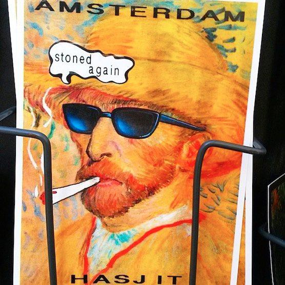 Vincent van Gogh postcard souvenir funny