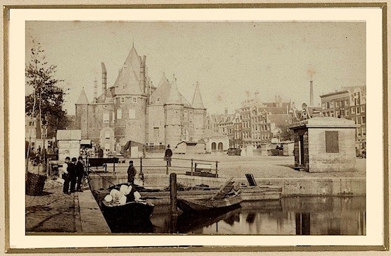 This is the oldest non-religious building in Amsterdam. The Waag, 1870.