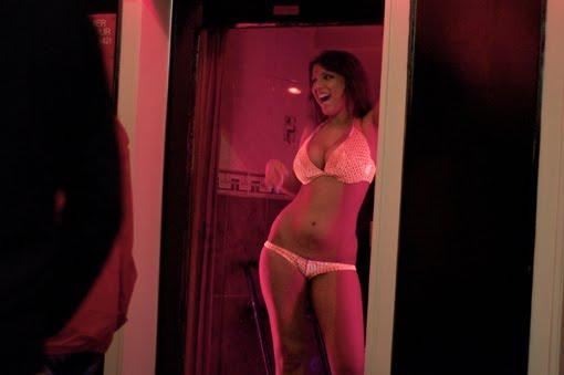A window prostitute in Amsterdam