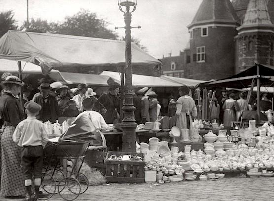 Amsterdam's Nieuwmarkt and The Waag in 1916.