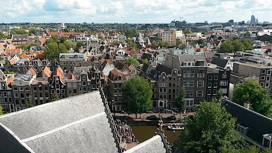 Amsterdam from above: An amazing view from the top of the Old Church into the East.
