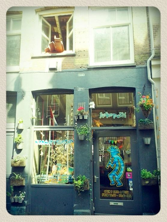 This is the first smart shop in The Netherlands. It sells magic mushrooms. This one is located in the Red Light District of Amsterdam.