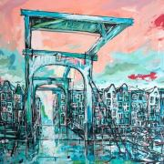 Amsterdam-Souvenir-Art-Painting-Canals-Postcards-Skinny-Bridge-small