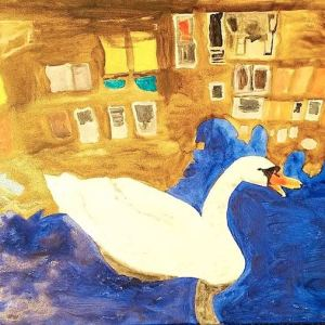 Amsterdam Swan Painting for sale