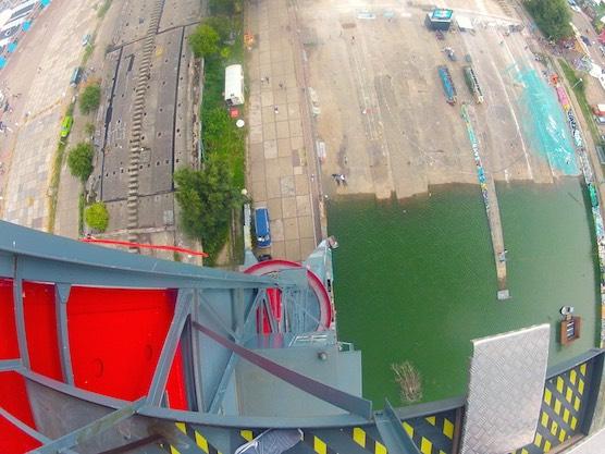 Bungee jumping Amsterdam view NDSM Feralda Crane