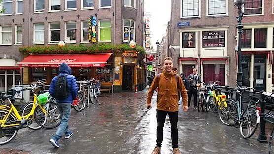 An interview with a male escort in Amsterdam Red Light District.