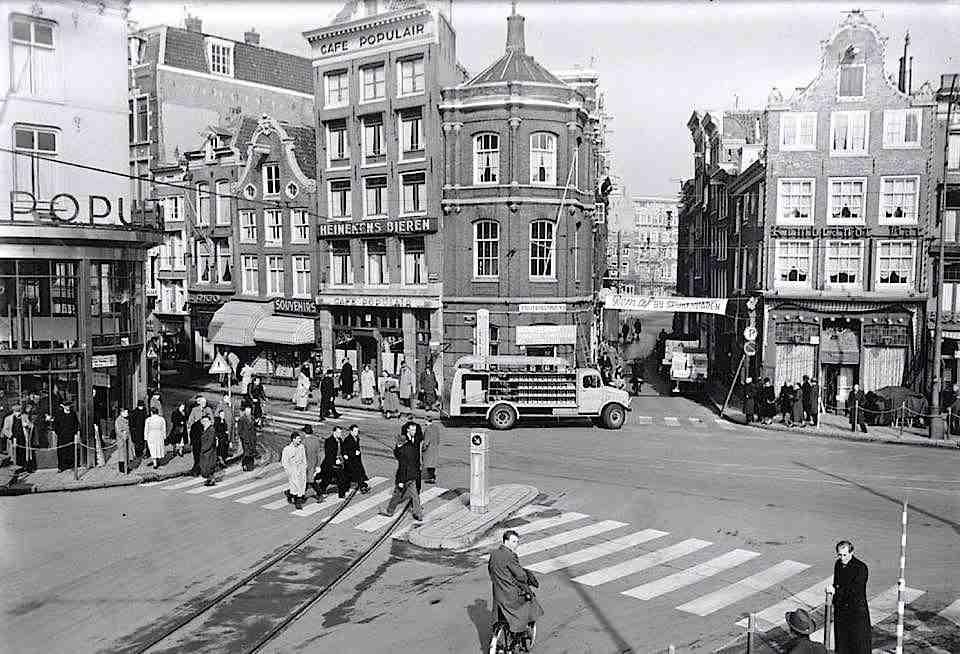 Amsterdam Rembrandt Square in the 1960's.
