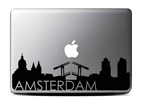 Amsterdam Skyline Decal Macbook 15 Inch