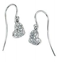 Heart Drop Earrings   Diamond Heart   Amulet Fine Jewellery